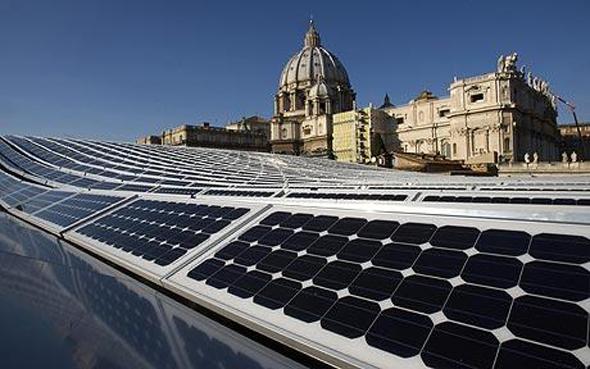 solar panels at the Vatican